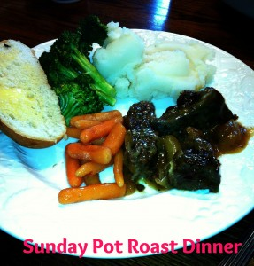 pot roast sunday meal