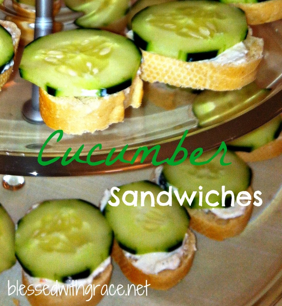 Cucumber sandwiches - blessedwithgrace.net