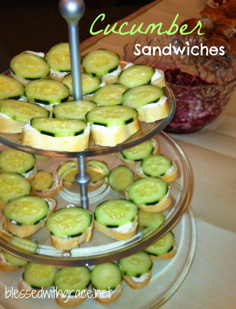 Perfect cucumber sandwiches for a Tea.