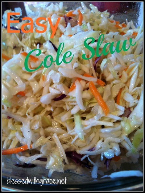 Easy Cole Slaw for a Summer Day