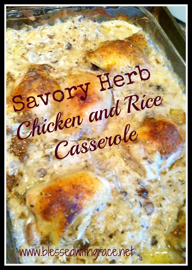 Updated Chicken and Ricke Casserole