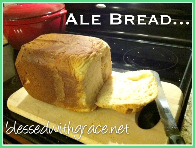 Beer bread, made using a bread machine.