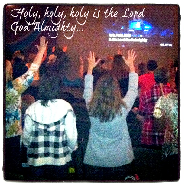 Praise and worship during Beth Moore Simulcast.