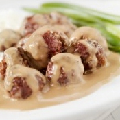 Stroganoff Meatballs at Blessed With Grace Blog