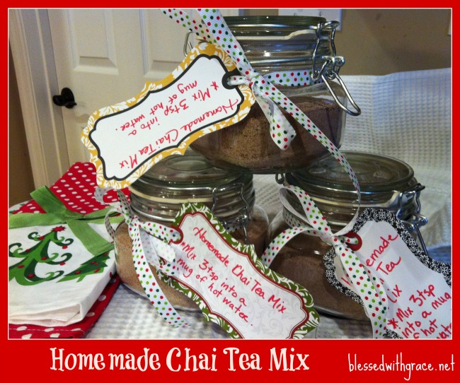 Gifting Chai Tea Mix for Christmas