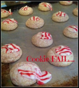 Peppermint Kiss Cookie Fail