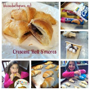Crescent Roll S'mores -Blessedwithgrace.net