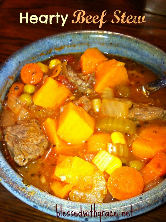 Hearty Beef Stew- Blessed With Grace Blog