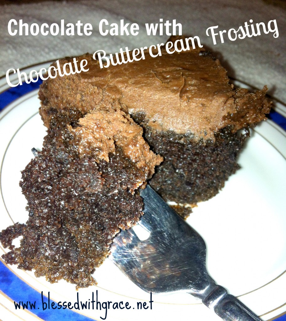 Chocolate Buttercream Frosting Recipe- blessedwithgrace.net