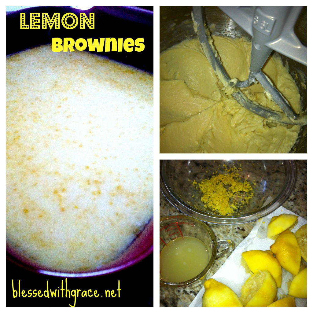 Lemony lemon brownies-blessedwithgrace.net